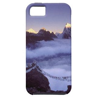 Banderas del rezo del parque en Everest Nepal iPhone 5 Funda