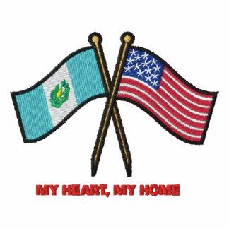 Banderas duales de Nosotros-Guatemala Sudadera Con Capucha Bordada