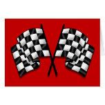 Banderas - el competir con a cuadros de la bandera tarjeta