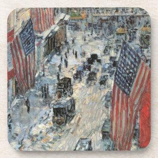 Banderas en la 57.a calle, impresionismo del posavaso