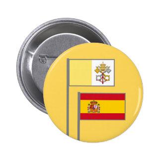 Banderas Españolas y el Vaticano Botones