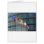 Banderas europeas tarjetas