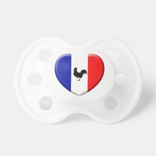 Banderas Francia arrollaron a gallo Chupete De Bebe
