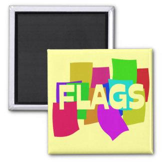 Banderas Imán Cuadrado
