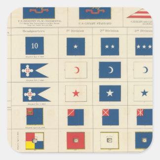 Banderas, insignias, etc calcomanias cuadradas