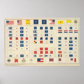 Banderas, insignias, etc impresiones