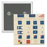Banderas, insignias, etc pin cuadrado