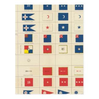 Banderas, insignias, etc postal