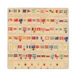 Banderas, insignias posavasos de arce