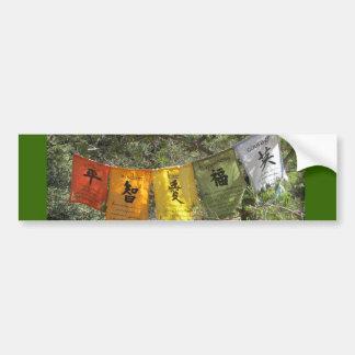 Banderas inspiradas del rezo pegatina de parachoque