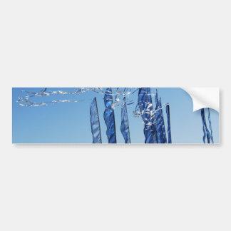 Banderas iridiscentes azules pegatina para auto