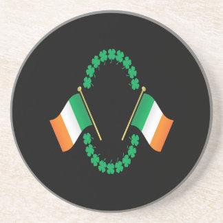 Banderas irlandesas posavasos cerveza