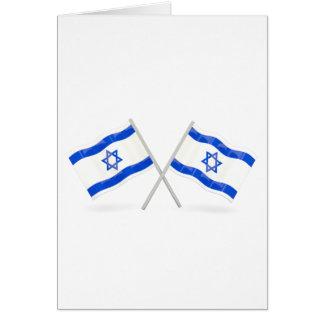 Banderas israelíes tarjeta de felicitación