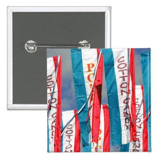 Banderas justas del caramelo de algodón de las pal pin cuadrada 5 cm