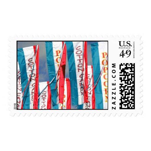 Banderas justas del caramelo de algodón de las sello