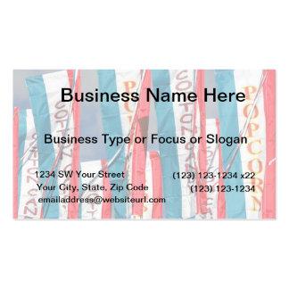 Banderas justas del caramelo de algodón de las tarjetas de visita