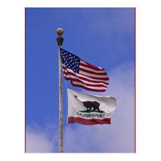 Banderas: Los E.E.U.U. y estado de California Postal