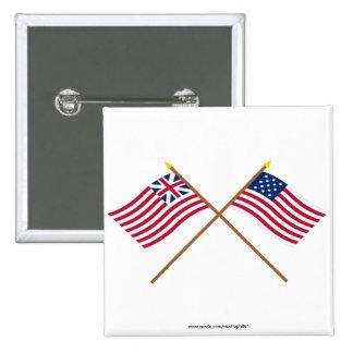Banderas magníficas cruzadas de Alliance de la uni Pins