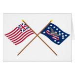 Banderas magníficas cruzadas de la rebelión de la  tarjeton
