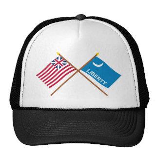 Banderas magníficas cruzadas de Moultrie de la uni Gorras