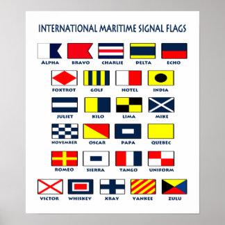 Banderas marítimas. El International firma el post Póster