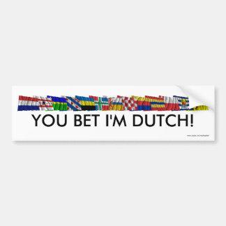 Banderas nacionales y provinciales holandesas pegatina para auto