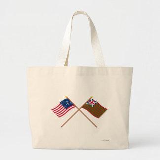 Banderas navales de Bennington cruzado y de la uni Bolsas De Mano