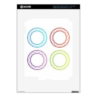 Banderas o elemento coloridas del diseño iPad 3 pegatina skin