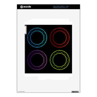 Banderas o elemento coloridas del diseño skins para iPad 2
