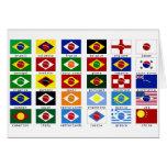 banderas para la copa del mundo en Brasil Tarjeta De Felicitación