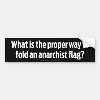 Banderas plegables del anarquista pegatina para auto