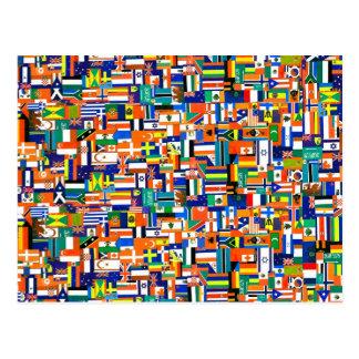 """""""Banderas postal de Decoupage del mundo"""""""
