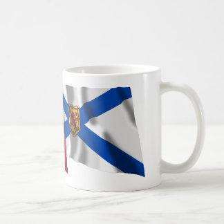 Banderas que agitan de Canadá y de Nueva Escocia Tazas De Café
