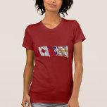 Banderas que agitan de Canadá y de Terranova Camisetas