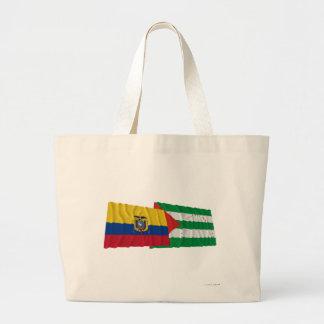 Banderas que agitan de Ecuador y de Manabí Bolsas