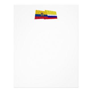Banderas que agitan de Ecuador y de Napo Plantillas De Membrete
