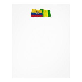 Banderas que agitan de Ecuador y del EL Oro Membrete Personalizado