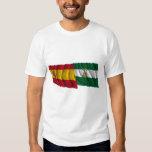Banderas que agitan de España y de Andalucía Camisas