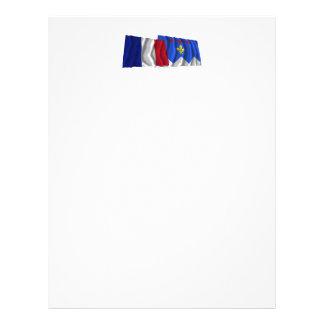 Banderas que agitan de Francia y de Plantillas De Membrete
