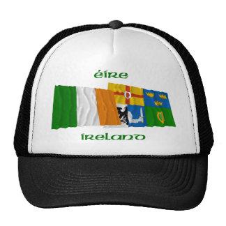 Banderas que agitan de Irlanda y de la Cuatro-Prov Gorra