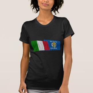 Banderas que agitan de Italia y de Calabria Camisetas