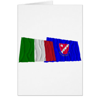 Banderas que agitan de Italia y de Molise Felicitación