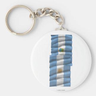 Banderas que agitan de la Argentina y de La Pampa Llaveros