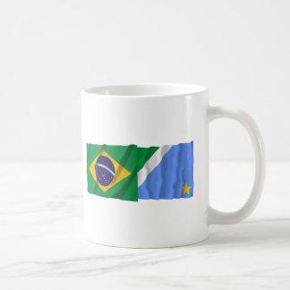 Banderas que agitan de Mato Grosso del Sur y del Taza Clásica