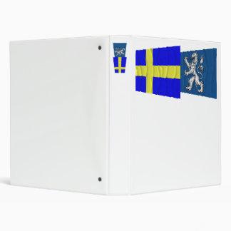 """Banderas que agitan del län de Suecia y de Carpeta 1"""""""