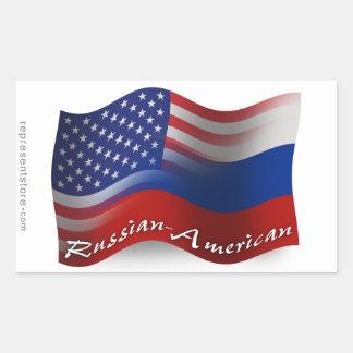 Banderas que agitan Ruso-Americanas Rectangular Altavoces