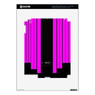 Banderas que fluyen negras rosadas con clase pegatina skin para iPad 3