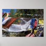 Banderas tibetanas del rezo impresiones