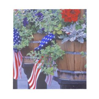 Banderas y flores en Philipsburg Montana Libreta Para Notas