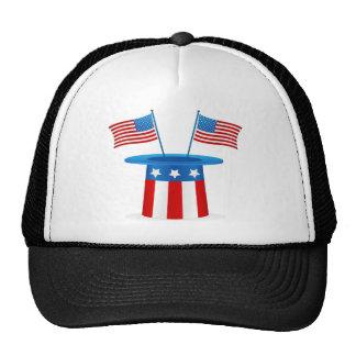 Banderas y perro lindo gorras de camionero